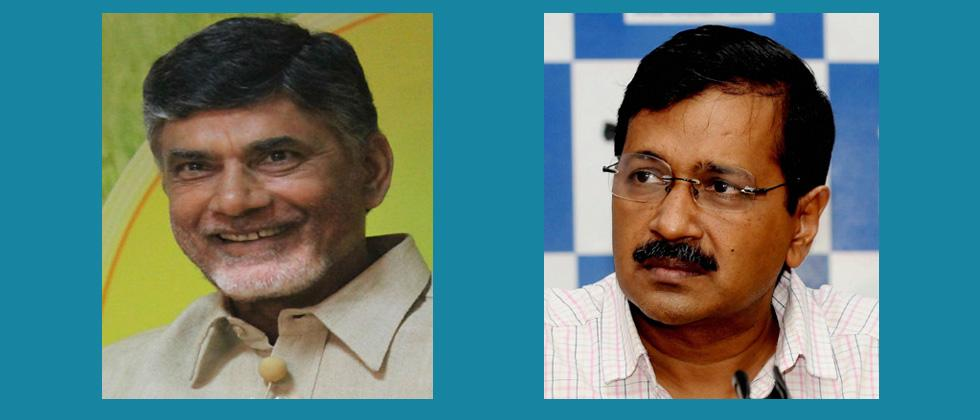 Naidu meets Kejriwal to garner support for no-confidence vote