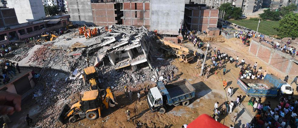 Under-construction building collapses in Noida; 2 killed, many feared trapped