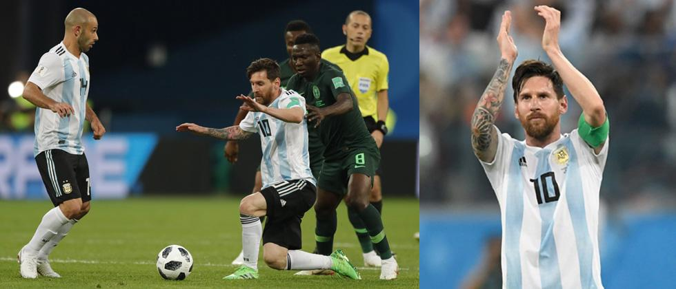 Marcos Rojo becomes the unlikely hero as Argentina scrap into Round of 16 with late winner