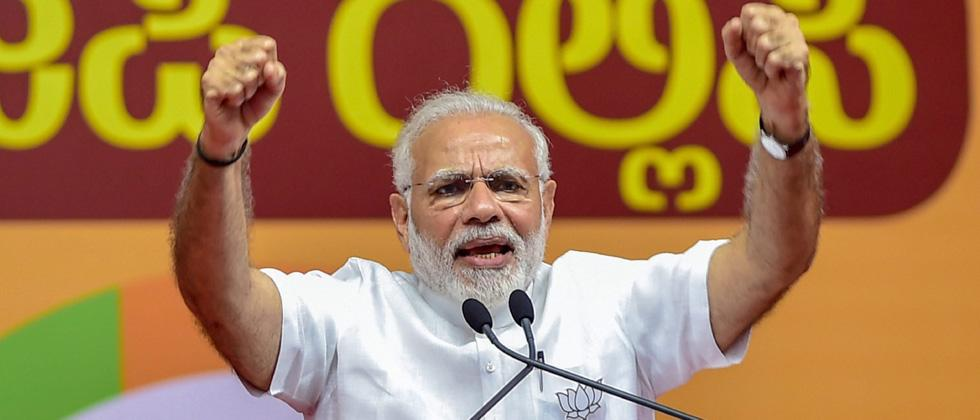 """Women first"" for govt and party, says Modi"