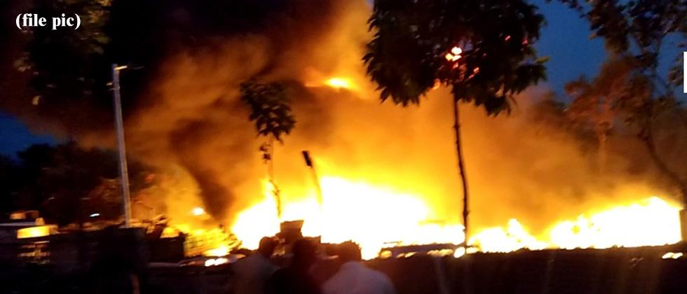 Part of Mumbai building collapses after blaze; 2 firemen hurt