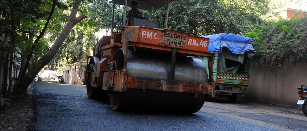 PMC using plastic in road construction