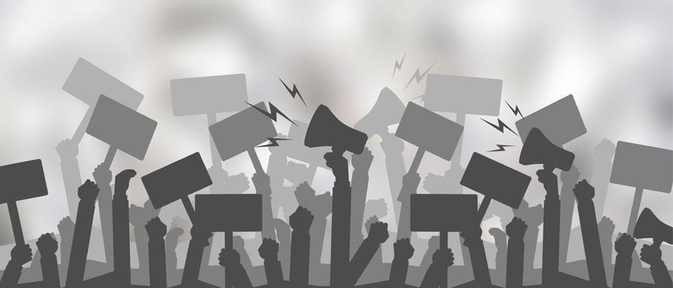Protest meet held in city by student associations