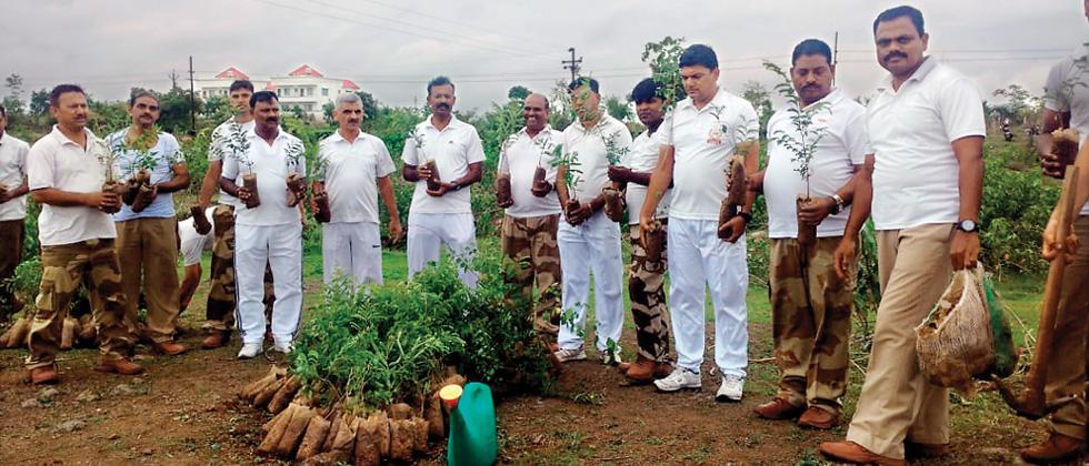 CISF plants 1,910 saplings