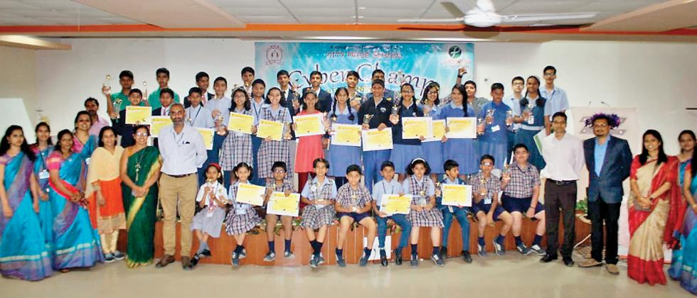 Cyber Champ competition conducted by City Pride School