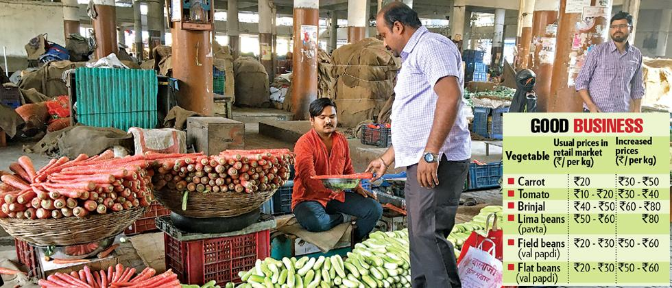 Demand, supply of veggies up due to festive season