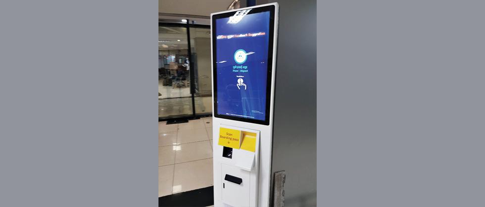 Feedback machine installed at airport for passengers