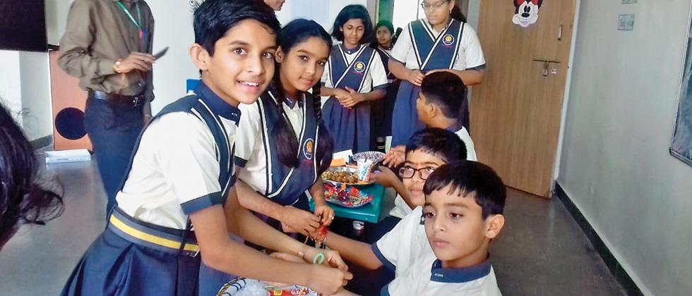 Flora Valley School kids celebrate Raksha bandhan with nature