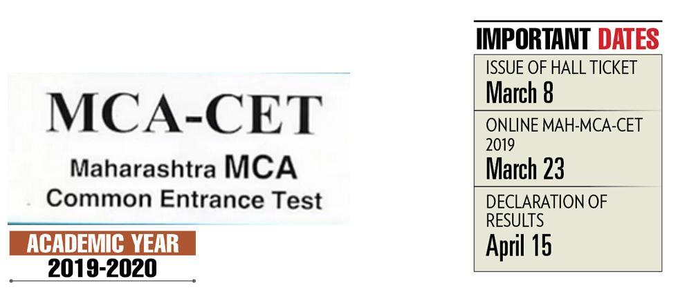 MCA CET entrance test on March 23