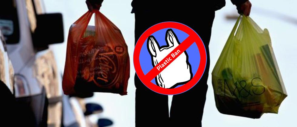 Panel formed to define 'single use plastic'