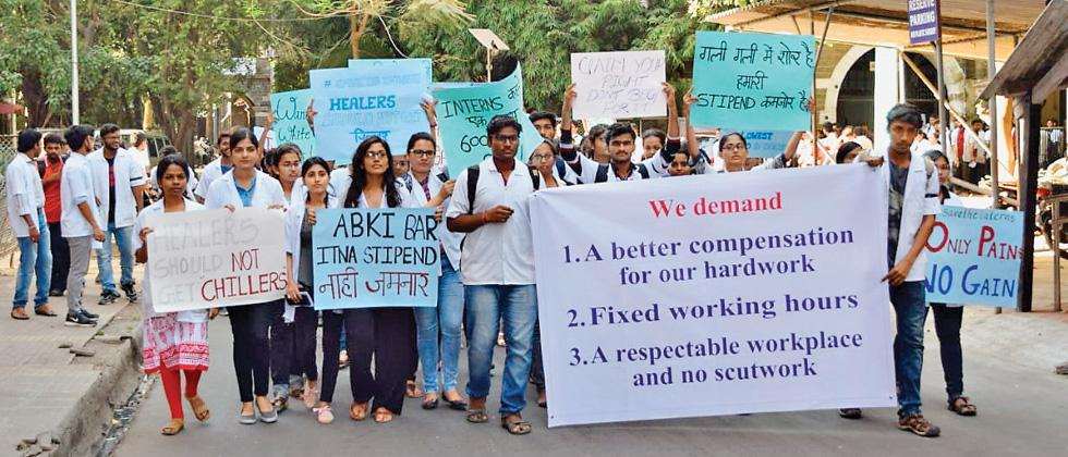 Strike by medical interns continues on second day