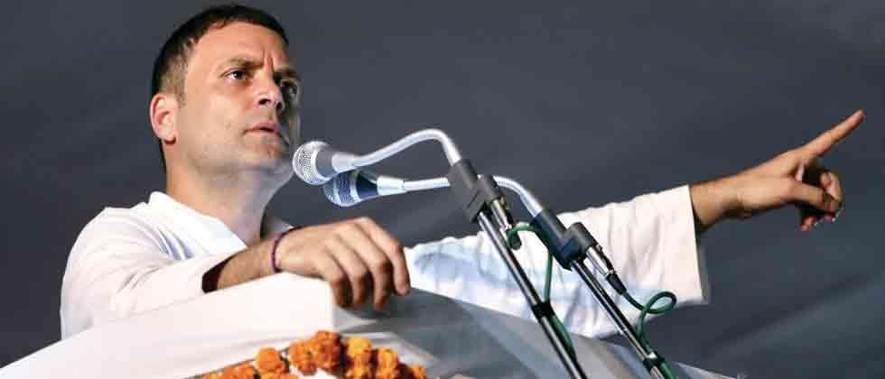 Focus on `corruption' in BJP govt, Rahul tells Youth Cong workers