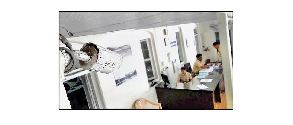 As part of smart police station initiative, CCTV cameras have been installed in many police stations so that senior cops can keep watch on happenings at police stations