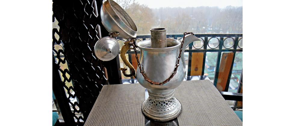 Samovar in which Kahwa is traditionally prepared