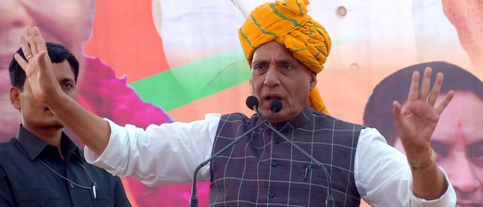 Stop promoting terrorism: Rajnath tells Pak