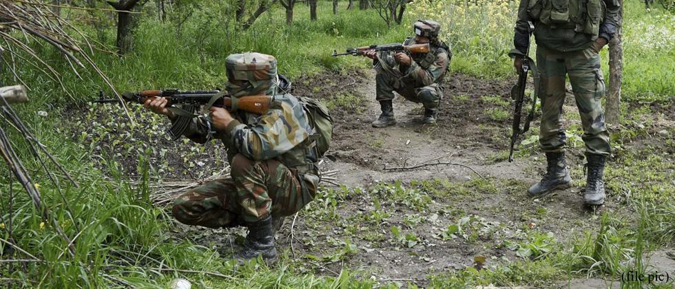 Three militants, woman killed in J&K gunfight