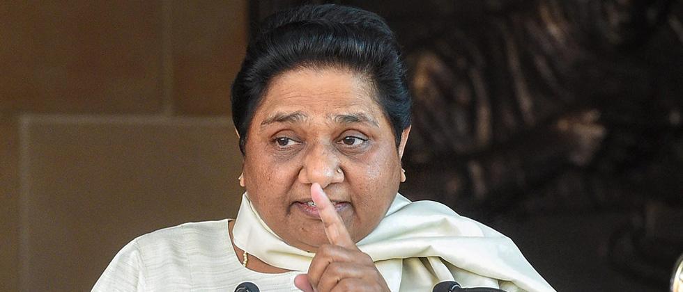 Mayawati hits back at BJP, says ties with SP not selfish