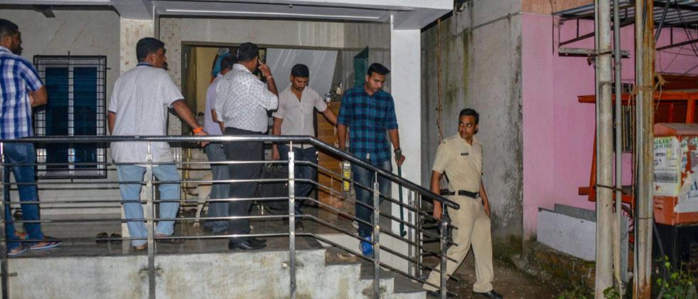 Maharashtra Anti-Terrorism Squad raids the house of a Sanatan Sanstha member Vaibhav Raut at Nalasopara, in Palghar on Friday, August 10, 2018. The ATS, reportedly, seized huge quantity of explosives from his residence. PTI Photo