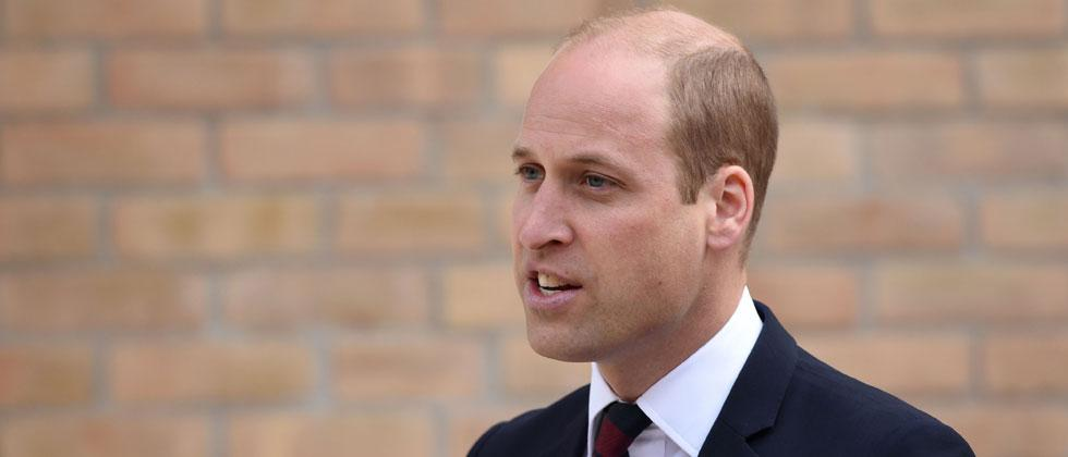 Britain's Prince William, Duke of Cambridge speaks during the official handover of the newly built Defence and National Rehabilitation Centre. Oli Scarff/AFP