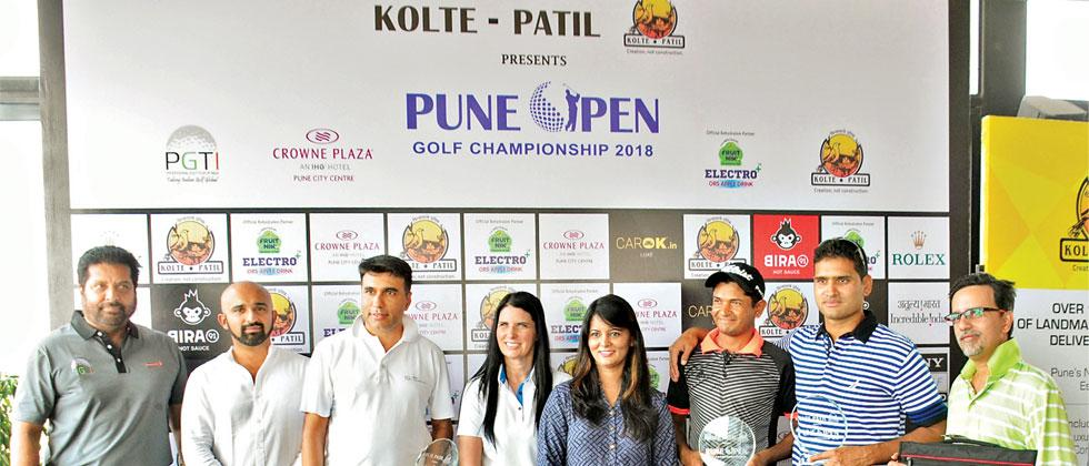Harendra Gupta and team, the winners of the Pro-Am event