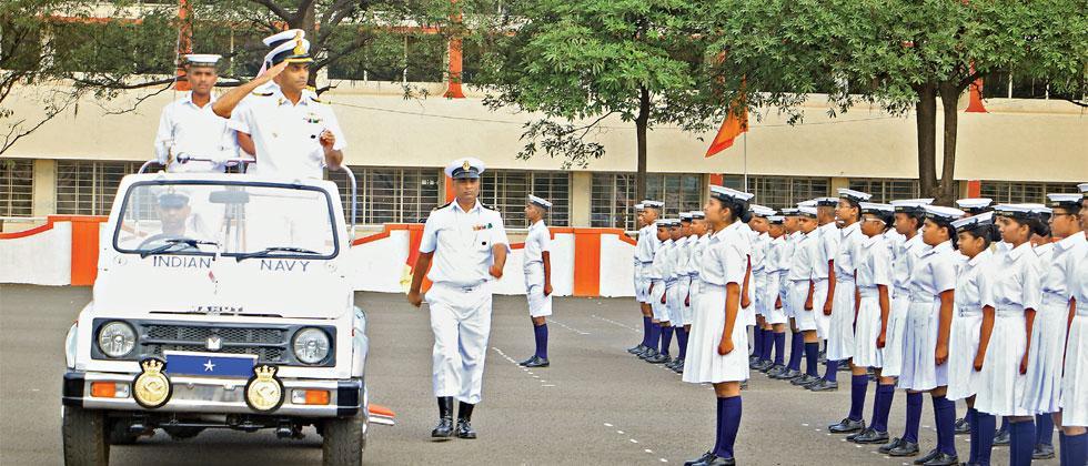 Cmde K Srinivas, Station Commander Lonavla and Commanding Officer INS Shivaji, presided over the ceremony and motivated young children