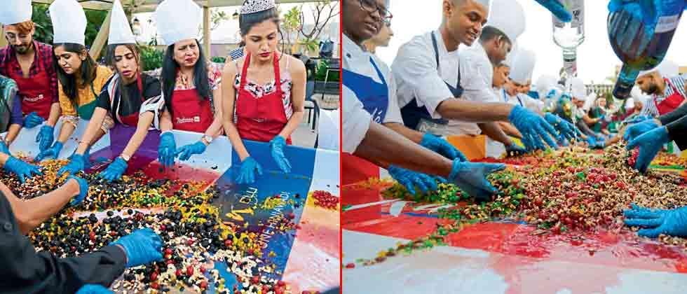 Cake mixing gets more colourful