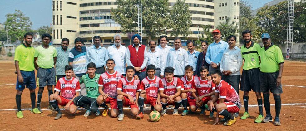 DSK Shivajians team poses for a picture before the start of the tournament
