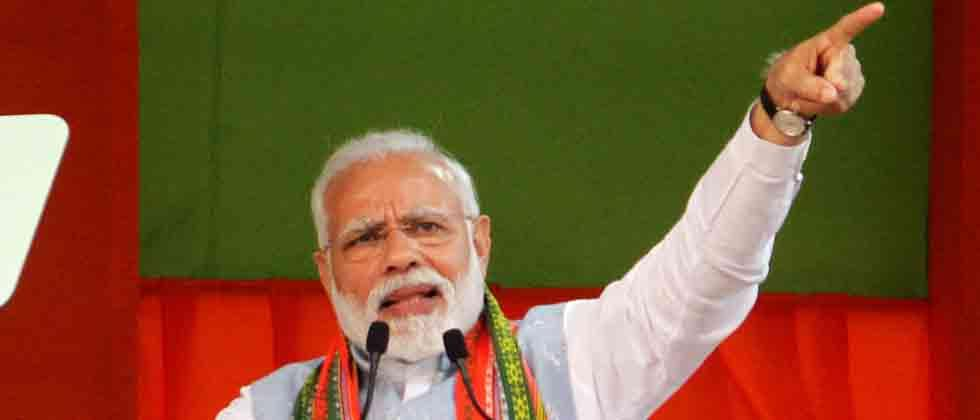 Modi launches developmental projects in Andhra amid protests