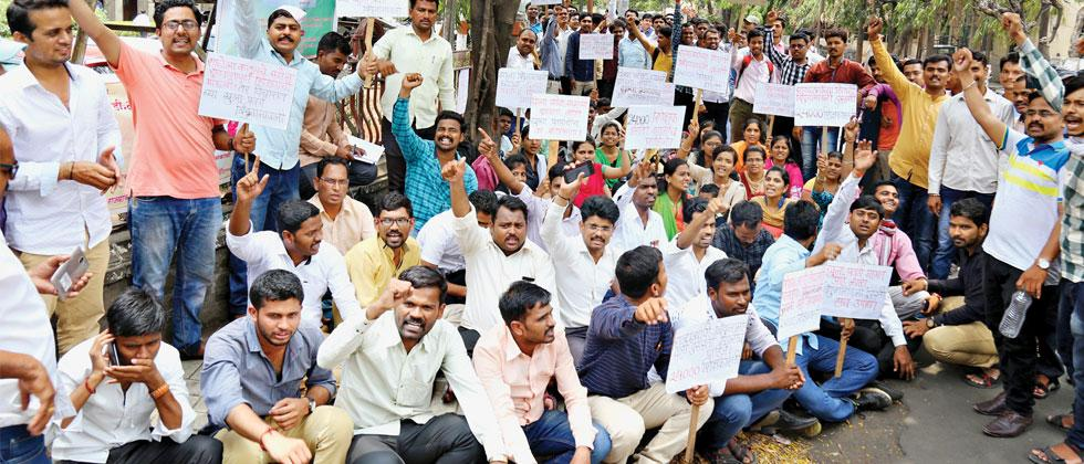protest: Around 1,000 candidates, who have a DEd or BEd degree, but are unemployed despite having cleared Teachers Eligibility Test, started an indefinite hunger strike on Monday