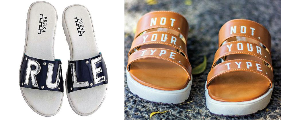 Slogans on Shoes