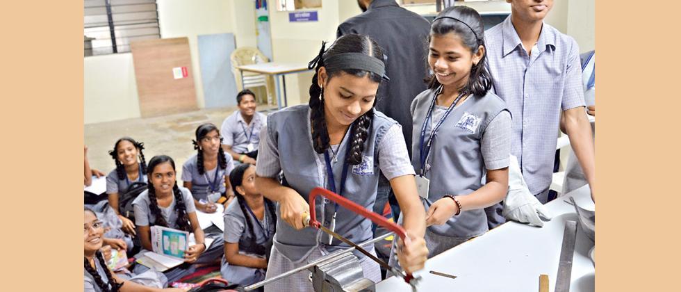 City NGO imparting skill devp training to school students