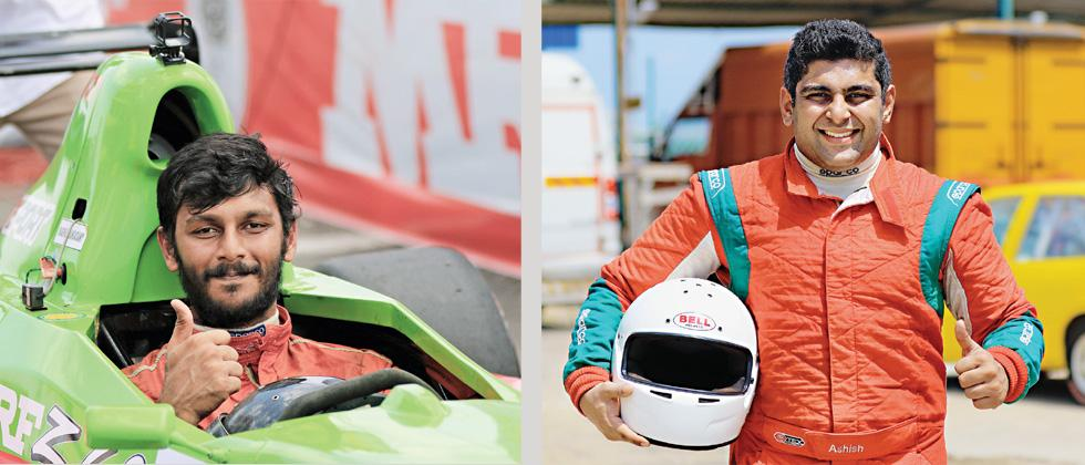 Raghul Rangasamy (left) and Ashish Ramaswamy win the MRF F1600 Championship and India Touring Cars Championship respectively at MMRT on Sunday.
