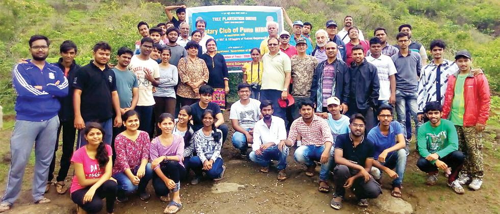 NSS unit of  Vishwakarma Institute of Information technology (VIIT) in association with Rotary club- NIBM, Gujjarwadi Gram Panchayat and Forest Ministry recently organised a tree plantation event in Gujjarwadi