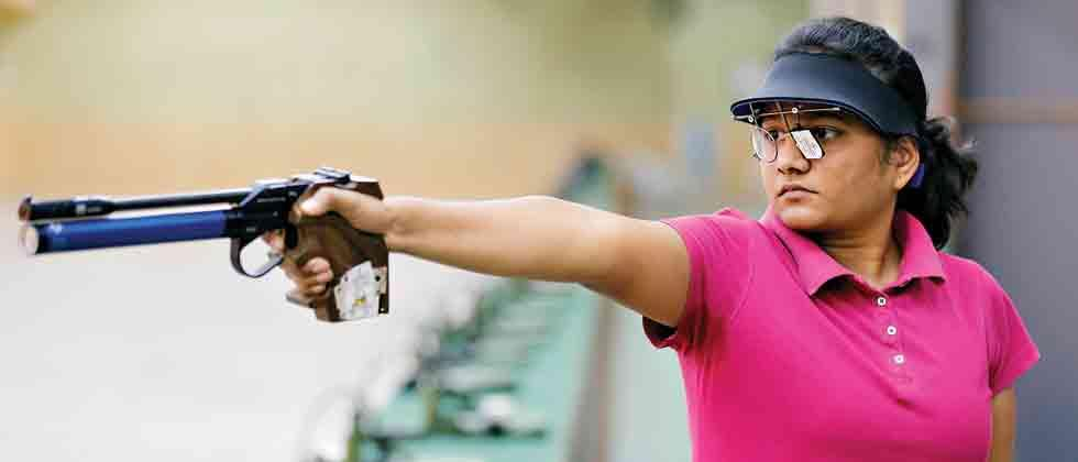 Harshada wins pistol gold