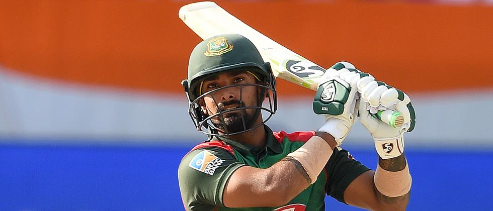 Bangladesh batsman Liton Das plays a shot during the start of the final one day international (ODI) Asia Cup cricket match between Bangladesh and India at the Dubai International Cricket Stadium in Dubai on Friday.