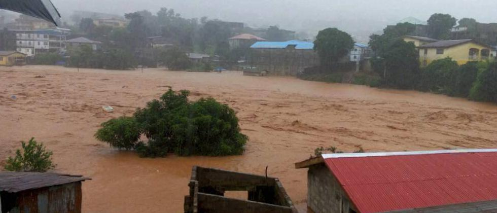 Mudslides after heavy rains and flooding killed scores of people in Sierra Leone's capital on Monday