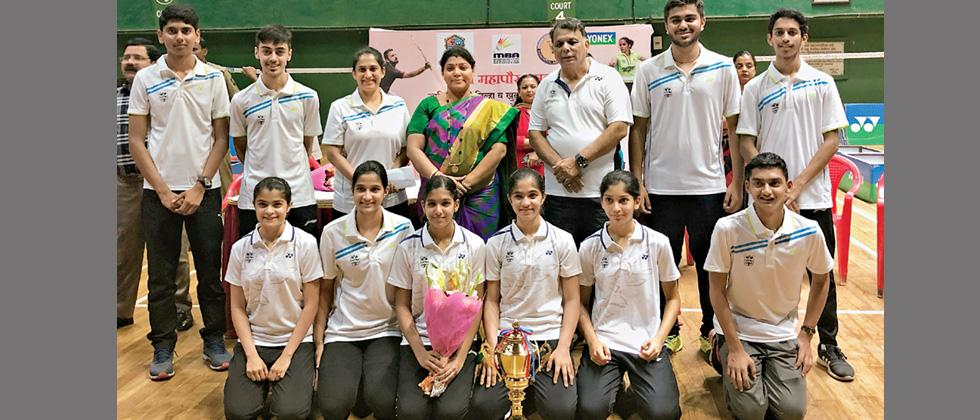 Pune shuttlers triumph over Nagpur to clinch title