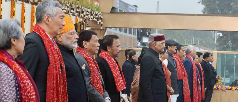 India celebrates 69th R-Day in presence of 10 ASEAN leaders