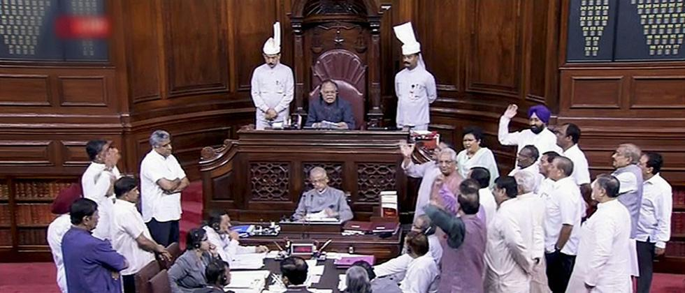 Oppn protests in RS over abduction of Cong Guj MLA