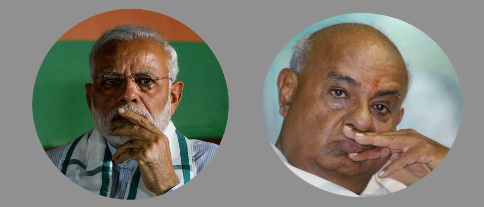 PM greets H D Deve Gowda on birthday