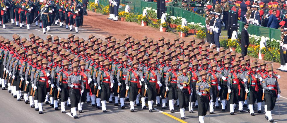 Women prowess mesmerises crowd at 70th R-Day parade on Rajpath