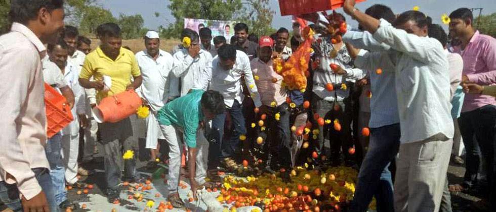 File photo of farmer's strike in Maharashtra