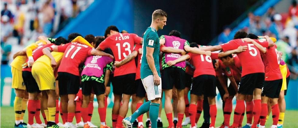 Germany midfielder Toni Kroos reacts following his team's loss during the Russia 2018 World Cup Group 'F' match against South Korea at the Kazan Arena on Wednesday