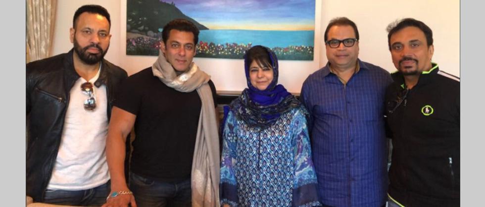 Salman Khan meets Mehbooba Mufti in Kashmir