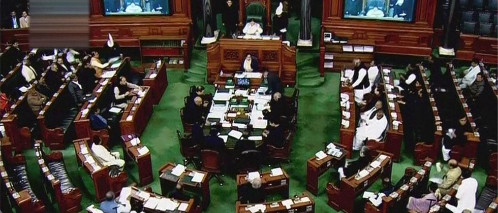 A view of the Lok Sabha assembly on the last day of the Parliament winter session in New Delhi