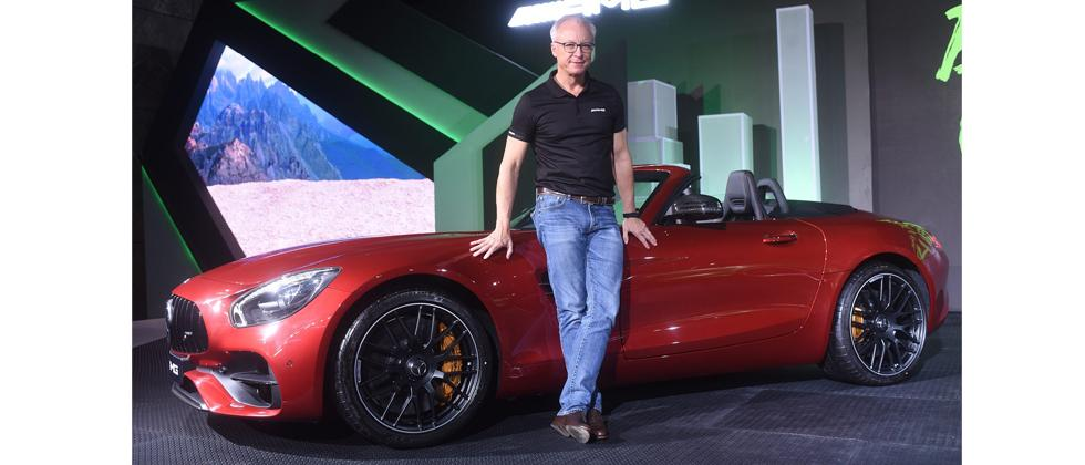 Roland Folger, MD & CEO, Mercedes Benz India at the launch of the AMG GT R and AMG GT Roadster in New Delhi on Monday.