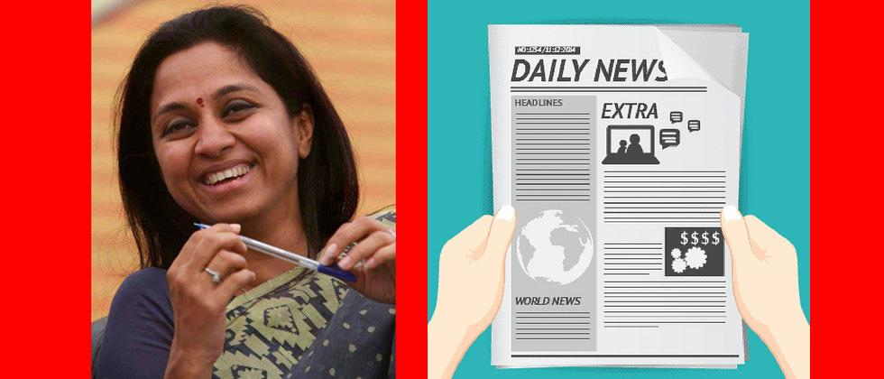 Supriya Sule to write blogs on current affairs