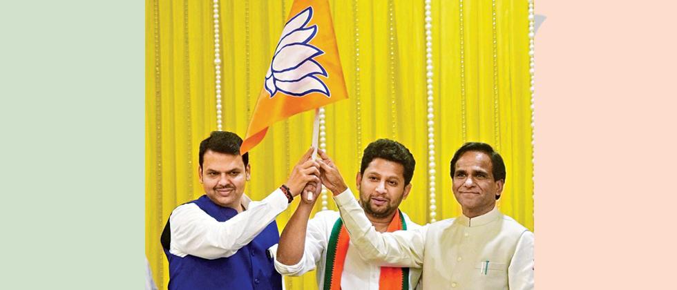 Vikhe-Patil's son joins BJP