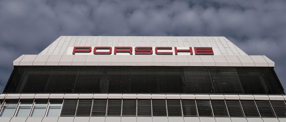 This file photo taken on March 10, 2015 shows the headquarters of German luxury carmaker Porsche in Stuttgart. AFP/dpa/Marijan Murat/Germany OUT