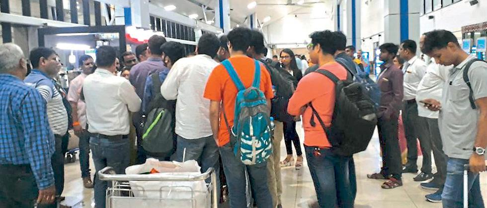 Air Asia flight cancelled, passengers get furious